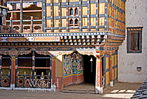 Traditional wooden architecture in Bhutan