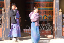 Locals in traditional Bhutanese costume