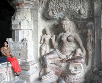 Elaborate sculptures at Ellora, near Aurangabad, India