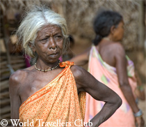 Tribal woman in Orissa, India