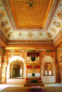 Chamber of a royal palace, Rajasthan