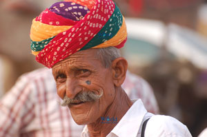 Rajasthan man with turban